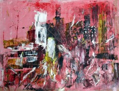 big-astratto-metropoli-in-rosso-cm30x40-olio-su-carta1